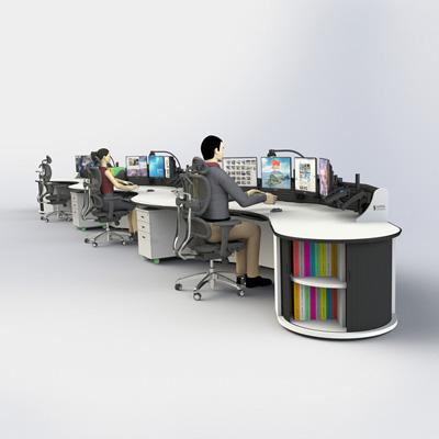 弧形监控室操作台定制