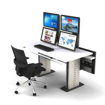 2联高品质平桌式监控操作台定制