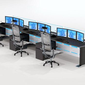 2联平面式监控控制台定制