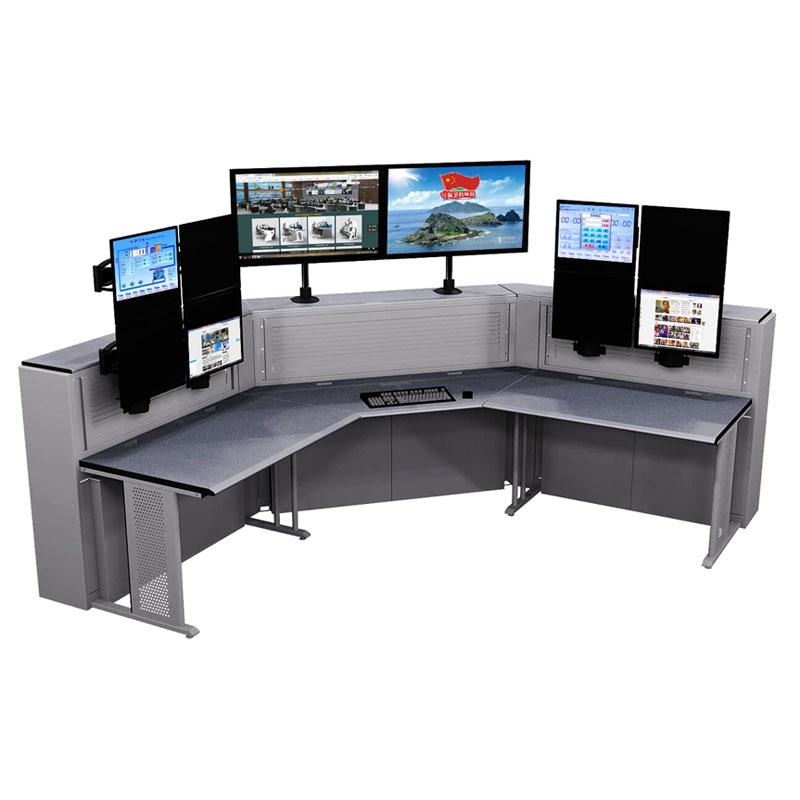 科技感值班室监控台