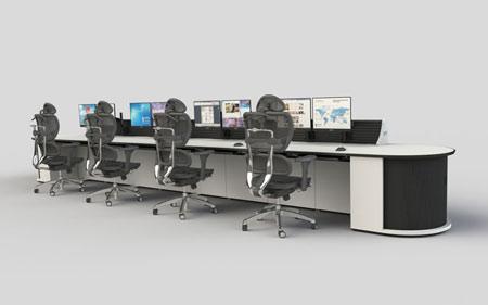 多联操作台图片-单联双联双层三层双面席位操作台图片图集
