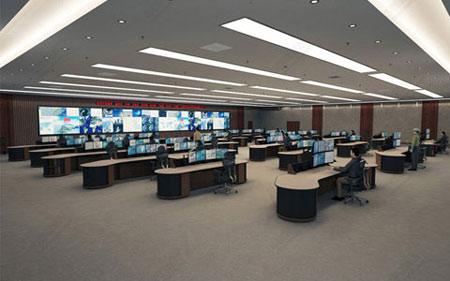 大型智能电脑控制台图片