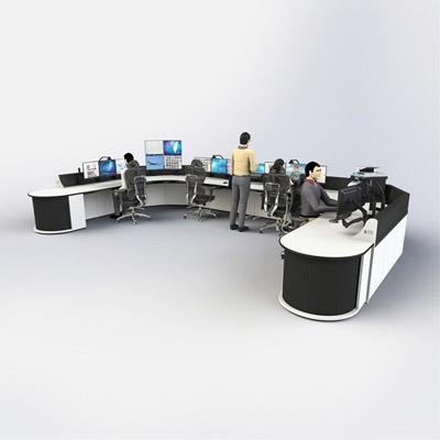 U型应急救援指挥中心调度台定制